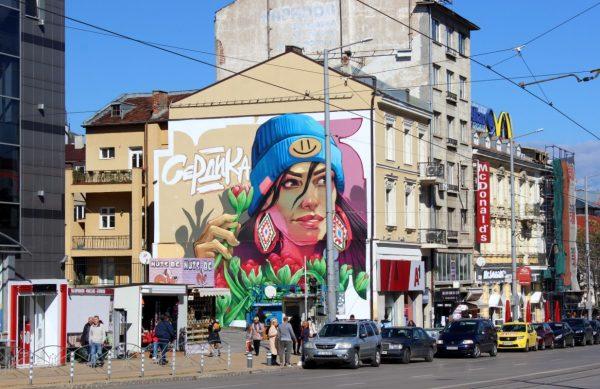 Serdika Tulip – Нов стенопис ще краси центъра на София