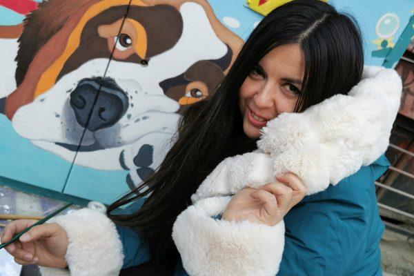 Анелия Александрова-Ая краси София с анималистично изкуство